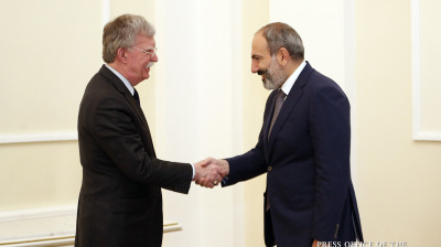 US uber-hawk Bolton presses Armenia on Iran sanctions