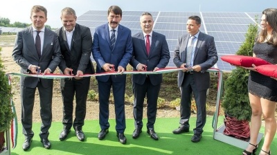 President inaugurates Hungary's first privately funded solar power plant