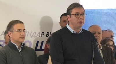 Serbia's ruling SNS wins outright majority in Belgrade elections