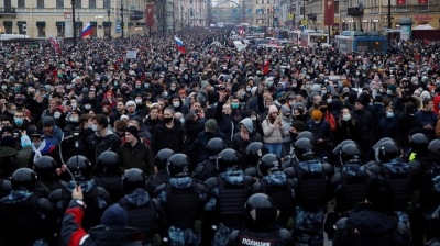 Russia's biggest demonstrations since 2011 in protest against Navalny jailing