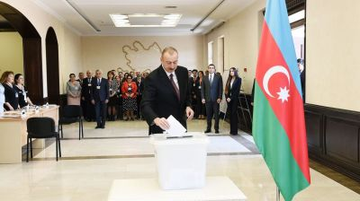 "Aliyev: Only ""first phase"" of war for ""primordially Azerbaijani"" Nagorno-Karabakh is over"