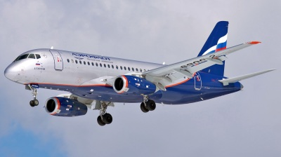 Russian Aeroflot carrier taking off for stellar 2020
