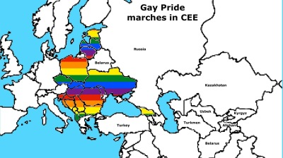 Rainbow flag flies over CEE, but attitudes to LGBT vary vastly