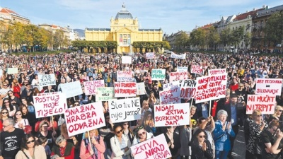 Mass protests in Croatia after gang rape suspects released