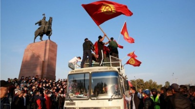 Opposition groups in Kyrgyzstan say they've seized power