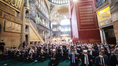"As first Friday prayer is held at Hagia Sophia since 1930s observers ask: ""Is secularism dead in Turkey?"""