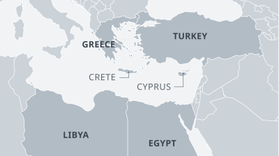Absurd maritime deal between Turkey and Libyans ignores presence of Crete says Greece