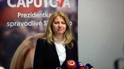 Anti-corruption campaigner Zuzana Caputova becomes Slovakia's first female president
