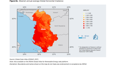 """Extensive"" solar opportunities, potential for wind and geothermal power in Albania"
