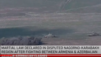 Major fighting erupts between Armenia and Azerbaijan over Nagorno-Karabakh