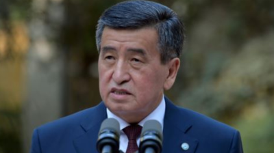 Kyrgyzstan's president Jeenbekov resigns as US embassy warns of organised crime swaying nation's politics