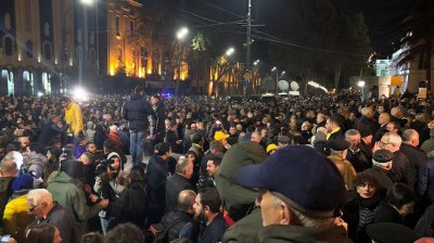 Tbilisi on edge as Georgians take to streets over rejection of voting reform