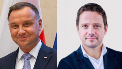 Incumbent Duda hairbreadth ahead of rival Trzaskowski but exit poll fails to indicate clear winner