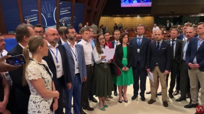 Seven New Europe members of PACE walk out in protest against Russia's readmission