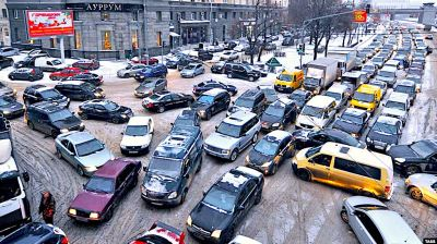 Moscow has the second highest road rage score in the world