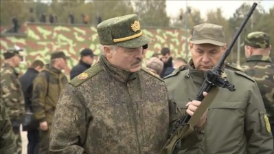 Lukashenko intimidating protestors with visits to military bases, mass strikes planned for post-elections