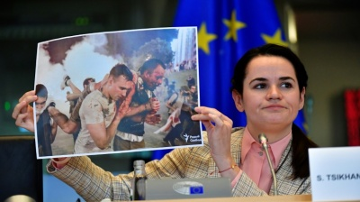 Tikhanovskaya in Brussels to ask for help, but Cyprus vetoes EU proposed sanctions on Lukashenko
