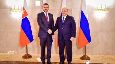 Slovak PM Pellegrini becomes the first European leader to meet new Russian PM Mishustin