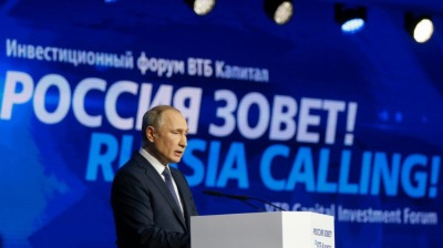 Putin says humanity will end up in caves if it abandons hydrocarbons