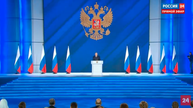 Putin promises to make Russians' lives better in his State of the Nation speech but adds threats to the West