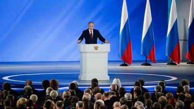 Putin calls for constitutional changes to shift power to Duma during his state of the nation speech