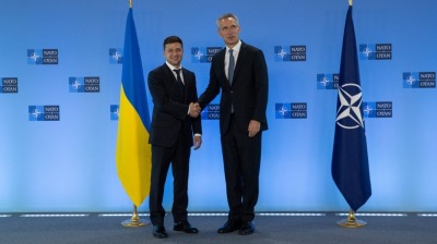 Ukraine's Zelenskiy calls on Nato to accelerate its accession