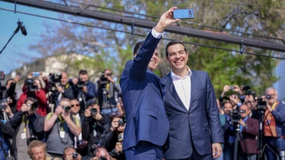 Greek PM pays first ever visit to North Macedonia