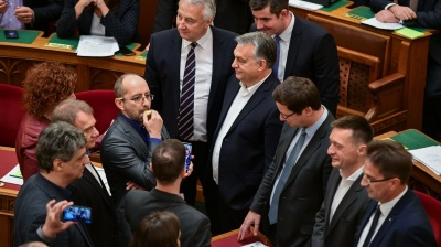 Contested overtime bill passed in Hungarian parliament after chaotic vote