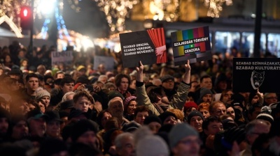 Hungarian government's controversial culture bill sparks protests