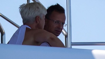 Photos reveal Hungarian foreign minister on board top oligarch's luxury yacht