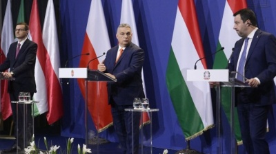 Eurosceptic rightwing trio discuss EP alliance at Budapest summit
