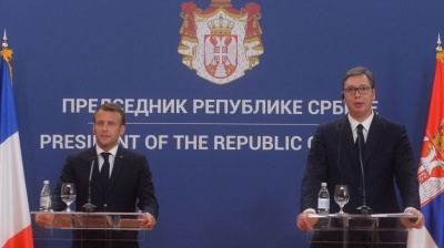 French President Macron pledges to restart Serbia-Kosovo dialogue