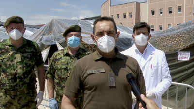 Serbia opens field hospitals as coronavirus spreads
