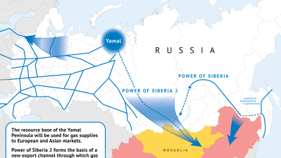 Gazprom starts designing $20bn gas pipeline to China