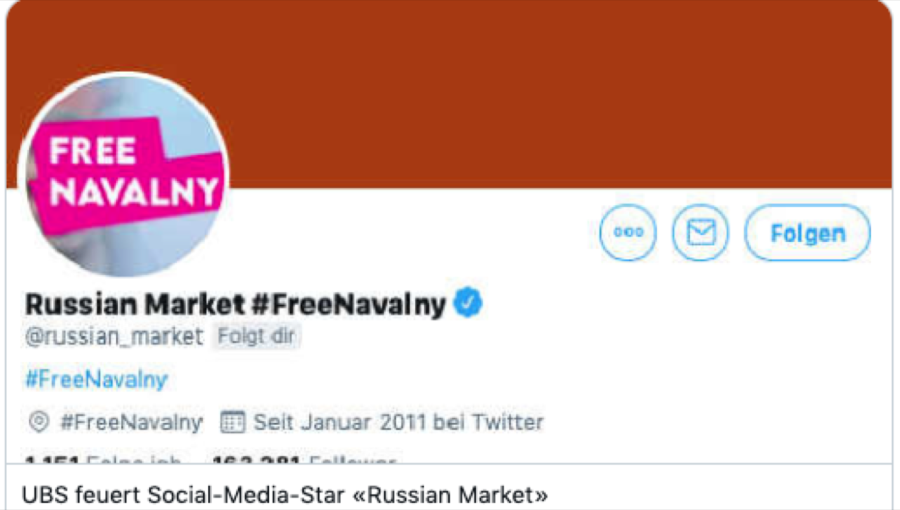 @russian_market sacked by UBS for supporting Navalny